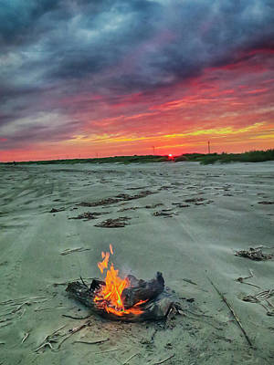 Photograph - Burning Sky by Charles McKelroy