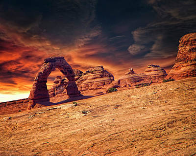 Photograph - Burning Sky by Mike Braun