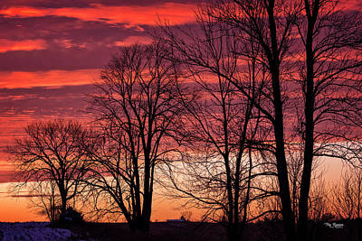 Photograph - Burning Sky by Peg Runyan