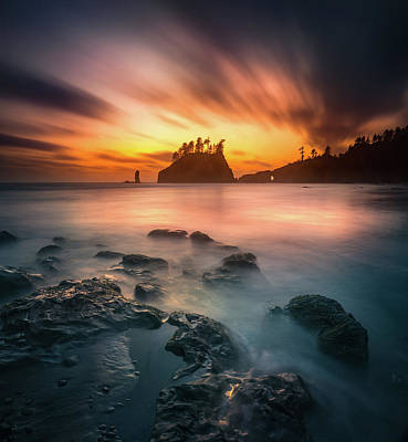 Photograph - Burning Sky by William Freebillyphotography