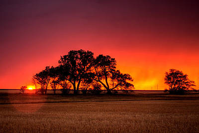 Wichita Photograph - Burning Sunset by Thomas Zimmerman