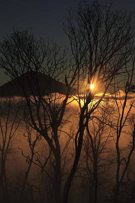 Burning Through The Fog Art Print by Naman Imagery