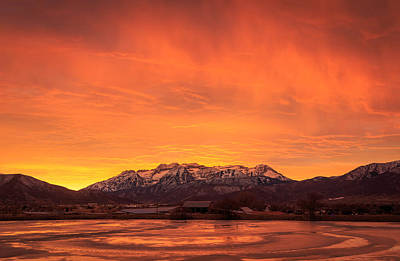Photograph - Burning Winter Sunset. by Johnny Adolphson