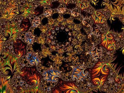 Digital Art - Burnished Summer by Georgiana Romanovna