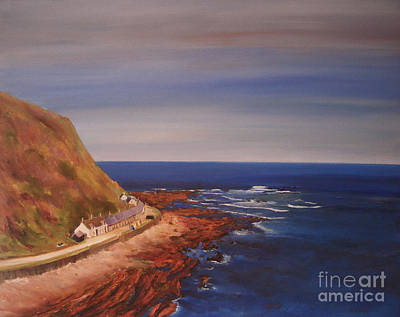 Art Print featuring the painting Burnmouth Scotland by Beatrice Cloake