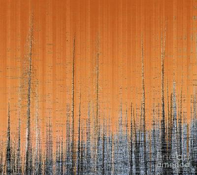 Dead Tree Trunk Digital Art - Burnout by Ann Johndro-Collins