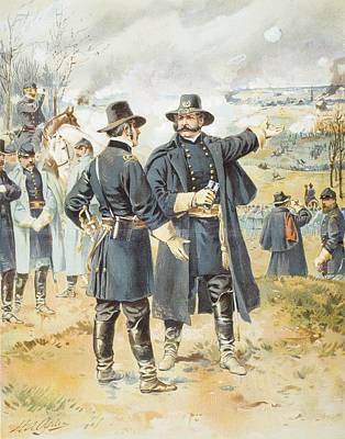 Burnside At Fredericksburg December 13 Art Print