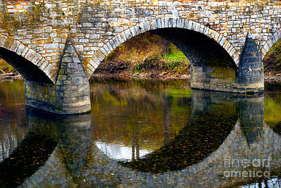 Burnside Bridge Photograph - Burnside Bridge Arches  by Paul W Faust - Impressions of Light
