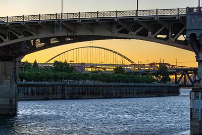 Burnside Bridge Photograph - Burnside Bridge Sunset by Jess Kraft