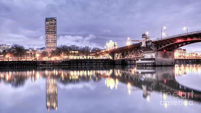 Burnside Bridge Waterfront Portland Oregon Original