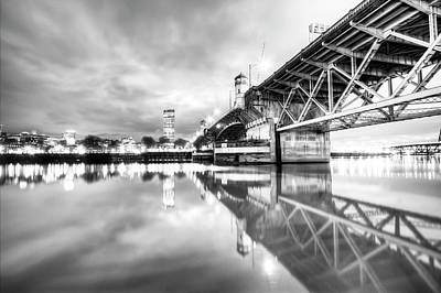 Burnside Bridge Willamette River Portland Oregon Art Print