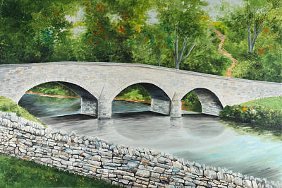 Painting - Burnside's Bridge Antietam National Battlefield by Paul Cubeta