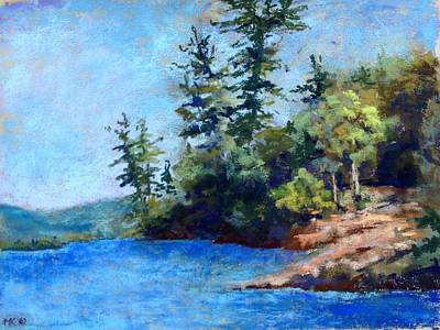 Pastel - Burnt Island, Lake George by Marlene Kingman