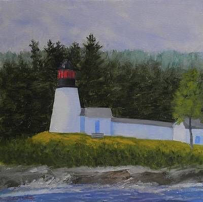 Painting - Burnt Island Light by Scott W White