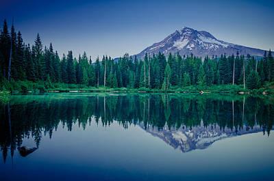 Photograph - Burnt Lake Reflection by Don Schwartz