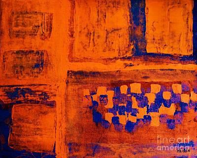 Burnt Digital Art - Burnt Orange Blue by Marsha Heiken