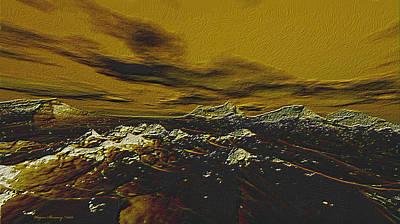 Burnt Timber Print by Wayne Bonney
