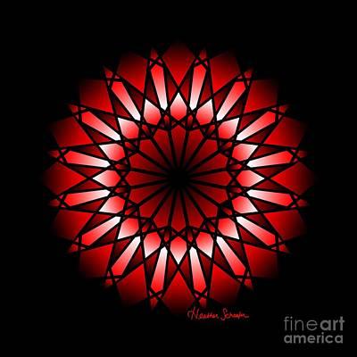 Digital Art - Burnt Umber Wonder Mandala by Heather Schaefer