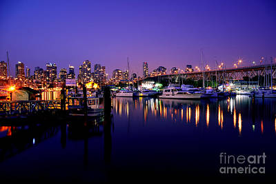 Photograph - Burrard Marina At Twilight by Terry Elniski