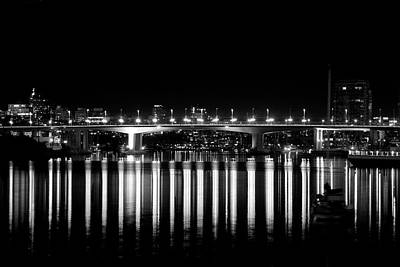 Photograph - Burrard Street Bridge  by Barbara  White