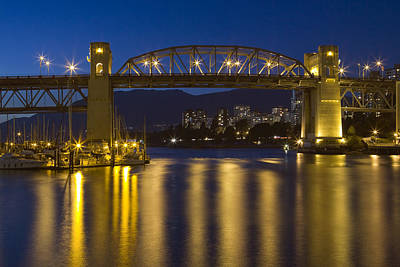 Burrard Street Bridge Vancouver Art Print by Naman Imagery