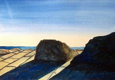 Burren Painting - Burren Watercolour by Martine Murphy