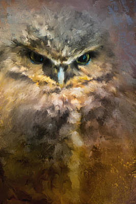 Painting - Burrowing Owl by Jai Johnson