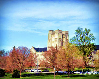 Photograph - Burruss Hall by Kerri Farley
