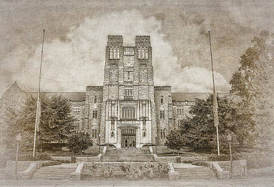 Burruss Hall Series II Art Print by Kathy Jennings