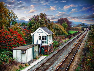 Photograph - Burscough Bridge Railway Station by Anthony Dezenzio