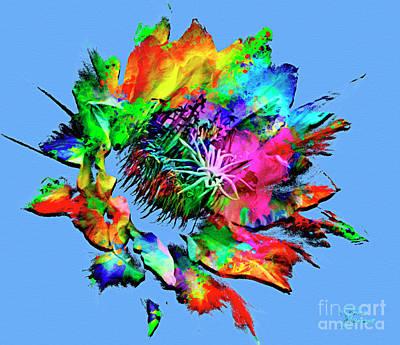 Mixed Media - Burst Of Color by David Millenheft