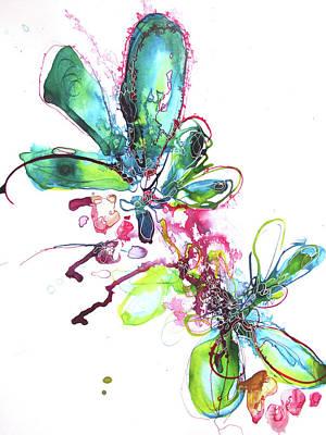 Landscape Drawing - Burst Of Energy by Rachel Meyers