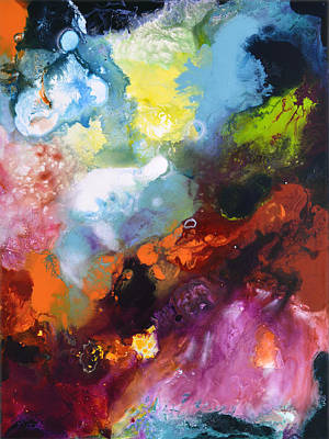 Painting - Burst Of Light Three Of Three by Sally Trace