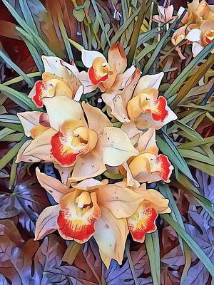Digital Art - Burst Of Orchids  by Don Wright