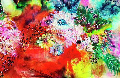Painting - Burst Of Spring Flowers by Don Wright