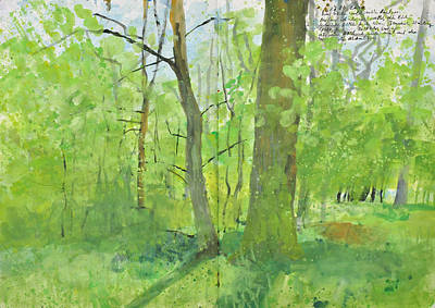 Painting - Burst Of Spring Greens, Forest Landscape by Martin Stankewitz