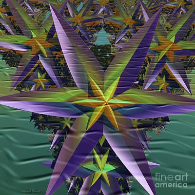 Incendia Digital Art - Bursting Stars by Deborah Benoit