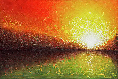 Bursting Sun Art Print