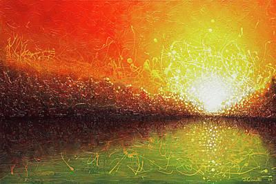 Art Print featuring the painting Bursting Sun by Jaison Cianelli