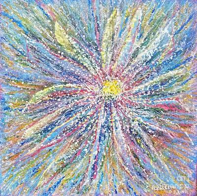 Wall Art - Mixed Media - Bursting With Joy by Debra Link