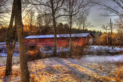 Burt Henry Covered Bridge - Bennington Vermont Art Print