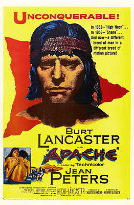 1950s Mixed Media - Burt Lancaster As The Apache 1954 by Mountain Dreams