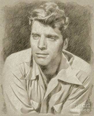 Star Trek Drawing - Burt Lancaster Hollywood Actor by Frank Falcon