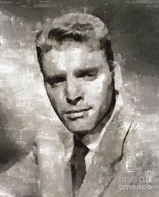 Elvis Presley Painting - Burt Lancaster Hollywood Actor by Mary Bassett