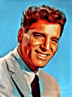 Science Collection Rights Managed Images - Burt Lancaster, Hollywood Legend, Digital Art by Mary Bassett Royalty-Free Image by Esoterica Art Agency