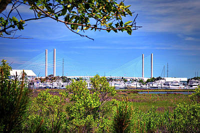 Photograph - Burton's, Boats And A Bridge by Bill Swartwout Photography