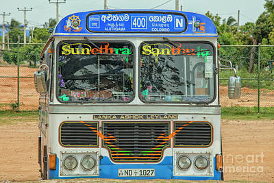 Photograph - Bus In Sri Lanka by Patricia Hofmeester
