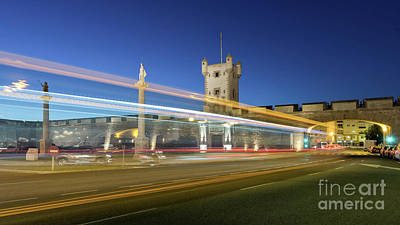 Photograph - Bus Lights At Puertas De Tierra Cadiz Spain by Pablo Avanzini