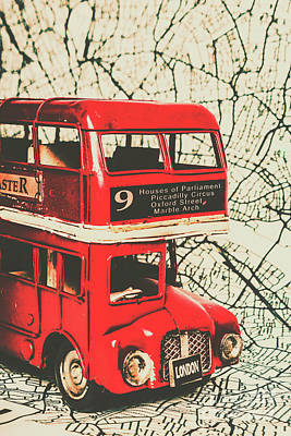 Great Britain Wall Art - Photograph - Bus Line Art by Jorgo Photography - Wall Art Gallery