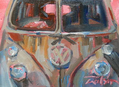 Painting - Bus-rust by Ron Wilson